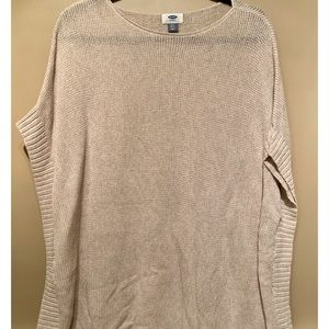 Old Navy Tan Sweater with Winged Sleeves